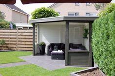 Pergola Kits Attached To House Garden Gazebo, Backyard Sheds, Backyard Patio, Backyard Landscaping, Garden Buildings, Garden Structures, Small Garden Design, Patio Design, Outdoor Rooms