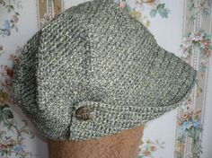 Crochet cap korean cap military cap korean fashion green