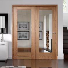 Easi-frame oak door and frame room dividers, a great choice. Living Room Sliding Doors, Wooden Sliding Doors, Internal Sliding Doors, Room Divider Doors, Sliding Glass Door, Wooden Glass Door, Room Dividers, Oak Interior Doors, Double Doors Interior