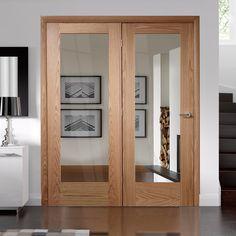 Easi-Frame Oak Door Set, GOSHAP10-COEOP35L, 2005mm Height, 1660mm Wide. #oakdoor #glazeddoor #internalglazeddoor