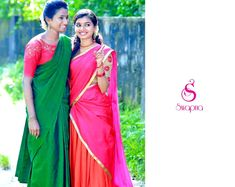 Plain Saree, Girls Together, Half Saree, Looking For Women, Sari, Cute, Beautiful, Dresses, Design