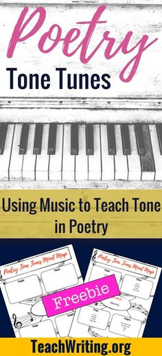 Music is a great tool to teach students how tone works to create theme. Check out this lesson with FREE POETRY DOWNLOAD from Bespoke ELA for TeachWriting.org.