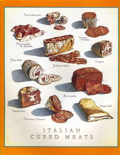 Cook's Illustrated back cover art: Italian Cured Meats