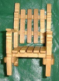 Clothes Pin Chair tutorial