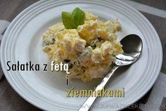 Na blogu sałatka ziemniaczana z fetą. Zapraszam do pichcenia! #feta #ziemniaki #kawazmlekiemblog