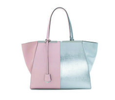 FENDI TROIS-JOUR GRANDE LEATHER TOTE! a must have from: http://www.bergdorfgoodman.com Metalics and pastels are in this Season. So get this signature bag in this awesome color combination, and wear it toujours!