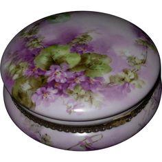 Limoges Porcelain Boxes | Vintage Hand Painted Porcelain Limoges France Dresser Box