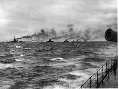 The Battle of Jutland - battleships of the British Grand Fleet in the North Sea