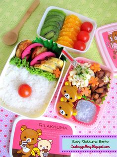 lots of cute bento inspiration to please my Asian-American palate!