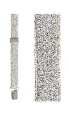 Silver Broadway Glitter Suspenders