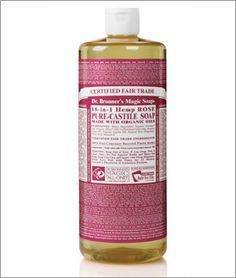 Dr. Bronner's Rose Liquid Soap - 32 oz. I use this after I have had a sweaty workout, it cuts through the grease and feels great, without drying my skin. I also bring it when I travel, in a small bottle and I use it on my face, hair and body.