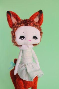 Brunehilde la chimère OOAK poupée d'art fait par ConfitureDePoeme