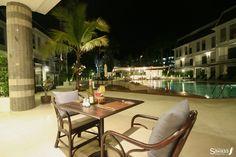 Poolside dining at Sawaddi Patong Resort  http://www.patongsawaddi.com/