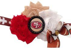 San Francisco 49er Headband by RebelBowz on Etsy