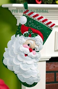 MerryStockings offers a wide variety of Christmas stocking kits inclusive of: Felt Applique' from Bucilla, Cross Stitch and Needlepoint from Dimensions as well as felt kits from Dimensions. Felt Stocking Kit, Christmas Stocking Kits, Felt Christmas Stockings, Christmas Crafts, Christmas Decorations, Christmas Ornaments, Holiday Decor, Christmas Sock, Christmas Child