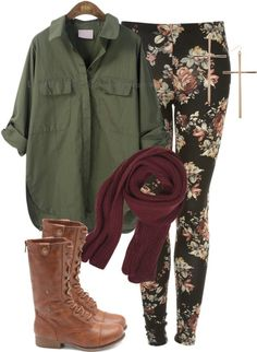 Get this look on @Emilio Sciarrino Sciarrino Sciarrino Foster or see more #floral #pants #blouse  * minus the cross earrings