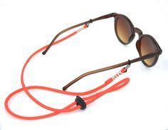 Orange Glasses Sunglasses string strap croakie cord with toggle.