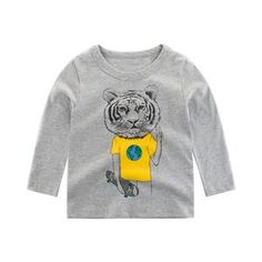 Tiger World Peace Kids Long Sleeves Matching Family Outfits, Cute Outfits For Kids, Cute Kids, Tiger World, Kids Clothes Sale, French Street Fashion, New Years Sales, World Peace, Baby Outfits Newborn