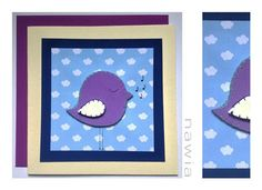 Kartka z ptaszkiem (proj. nawia), do kupienia w DecoBazaar.com