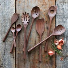 Shop the best selection of Spatulas & Turners from Sur La Table and satisfy all your Spatulas & Turners needs. Wooden Spoon Carving, Carved Spoons, Wood Spoon, Lathe Projects, Wood Projects, Bois Diy, Wood Lathe, Wooden Kitchen, Wooden Diy