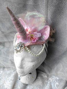 Tocado de unicornio unicornio casco rosa Unicorn por GustavosGoods
