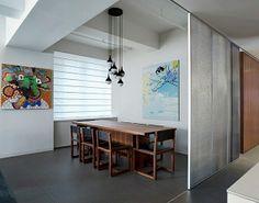 Lovely Wie sieht das moderne Esszimmer aus esszimmer trennwand holz m bel h ngeleuchten wanddeko kunst