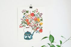 For the kitchen - A teapot's Dream  8x10 art print by oanabefort on Etsy, $25.00