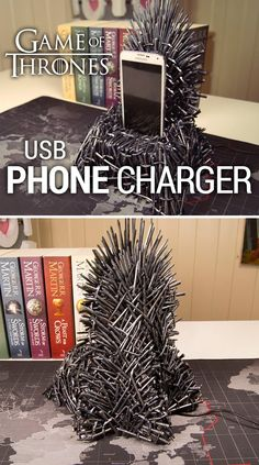 I'm so hyped about the 7th season of Game of Thrones coming out, I had to make a related project - an Iron Throne phone charger!