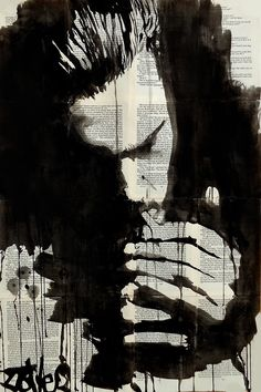 study for man smoking by Loui Jover