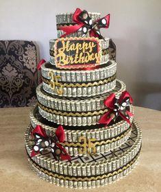 Birthday Money, 15th Birthday, Happy Birthday, Money Creation, 21st Bday Ideas, Money Cake, Flower Making, Graduation Gifts, How To Make Cake