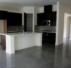 Concrete floor...like this look