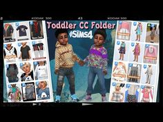 Sims 4 Tsr, Sims Cc, Toddler Outfits, Kids Outfits, Sims 4 Cc Folder, Around The Sims 4, Sims 4 Black Hair, Sims 4 Collections, Packing Clothes