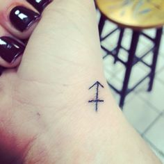 """#sagittarius #arrow #tattoo """"An arrow must be pulled back in order to be launched forward."""""""