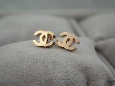 Double C pendant earrings UPCHAEAR215 [$8.00]