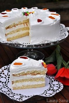 Delicious Deserts, Vanilla Cake, Fondant, Caramel, Bacon, Cheesecake, Dessert Recipes, Food And Drink, Cooking