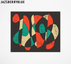 Modern GICLEE Abstract Fine Art Print for the home wall decor (13x16) by modern Artist Jazzberry Blue