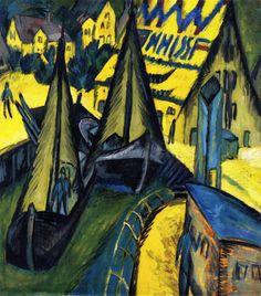 Burgstaaken Harbor, Fehmarn by Ernst Ludwig Kirchner