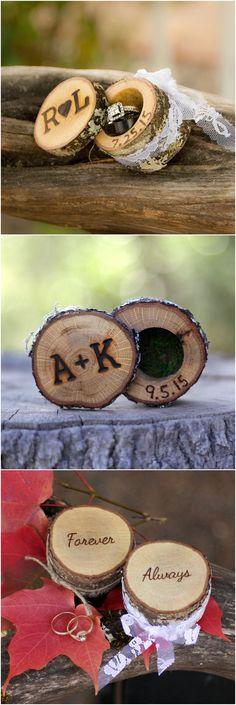 Wedding Ring Boxes Wedding Ring Box Wood Ring Box Proposal Ring Box Engagement Ring Box Wedding Ring Holder Custom Ring Box Rustic Wooden