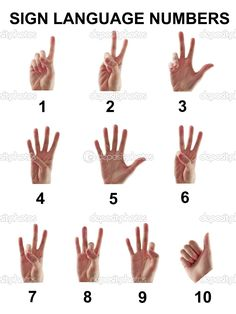 Sign Language Numbers 1-10