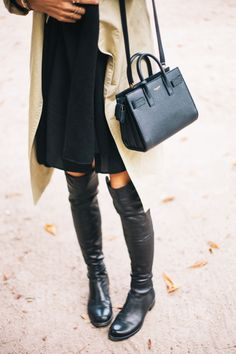 35 OVER THE KNEE BOOTS AND WAYS TO WEAR THEM IRL: Sarah Sarna waysify