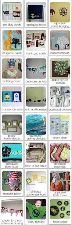best list of #cricutcrafts with thumbnails of each project, so many great ideas!