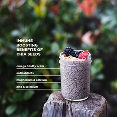 Looking for ways to support your immune system? Chia seeds are your allies—they're rich in nutrients that are key to regulating immune function. Plus, it couldn't be easier to add them to your meals. Smoothie Drinks, Smoothie Recipes, Smoothies, Chia Seeds, Immune System, Infographics, Keto Recipes, Benefit, Food And Drink