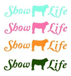 decals in every type of livestock!