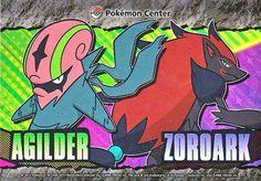 Pokemon Center 2013 Accelgor Zoroark Large Sticker