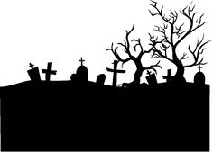 halloween graveyard silhouettes - Google Search