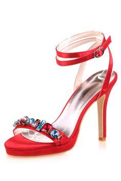 Sandales rouge à talons hauts ornées de navettes cristaux  multicolores pour soirée mariage - Persun.fr High Heels, Sandals, Fashion, Red High Heels, Red Sandals, High Heels Sandals, Crystals, Accessories, Daughters