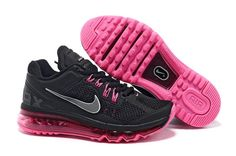 01260c2dac96 Women s Nike Air Max+ 2013 Black Pink Nike Shoes For Sale