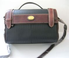Large Brown and Black #Handbag Faux Leather Cross Body or Hand NWT @snapdragonslair