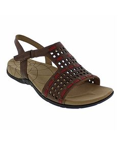 Love this Brown & Red Catalina Caprice Leather Sandal - Women on #zulily! #zulilyfinds