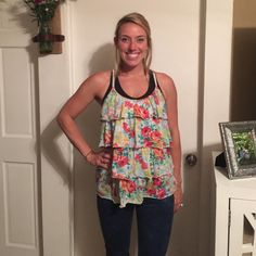 Floral Tank Fabulous tank with skinny jeans. XXL in juniors Charlotte Russe Tops Tank Tops